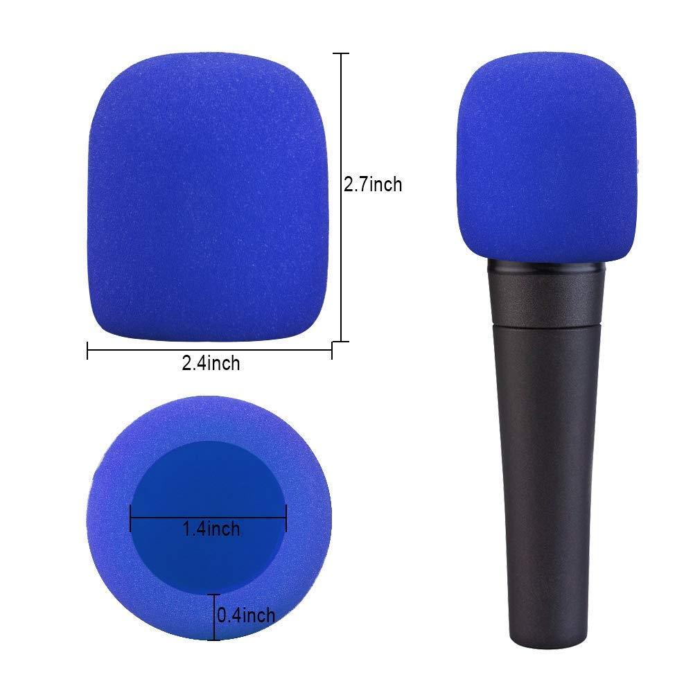 Amacoam Bonnette Micro Mousse Mic Microphone /à Main Couverture de Pare-Brise 20 Pi/èces Housses de Microphone Lavable pour KTV Performance sur Sc/ène Activit/és Ext/érieures 5 Couleurs