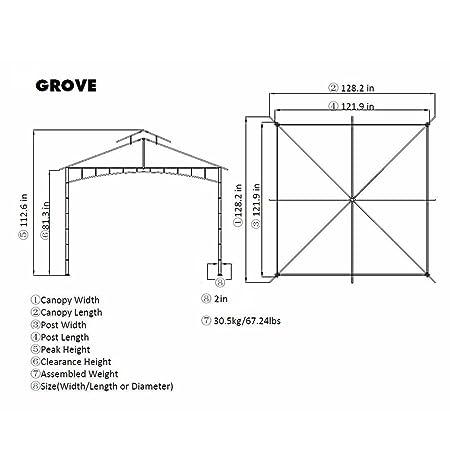 10\' x 10\' Grove Patio Canopy Gazebo: Amazon.co.uk: Garden & Outdoors