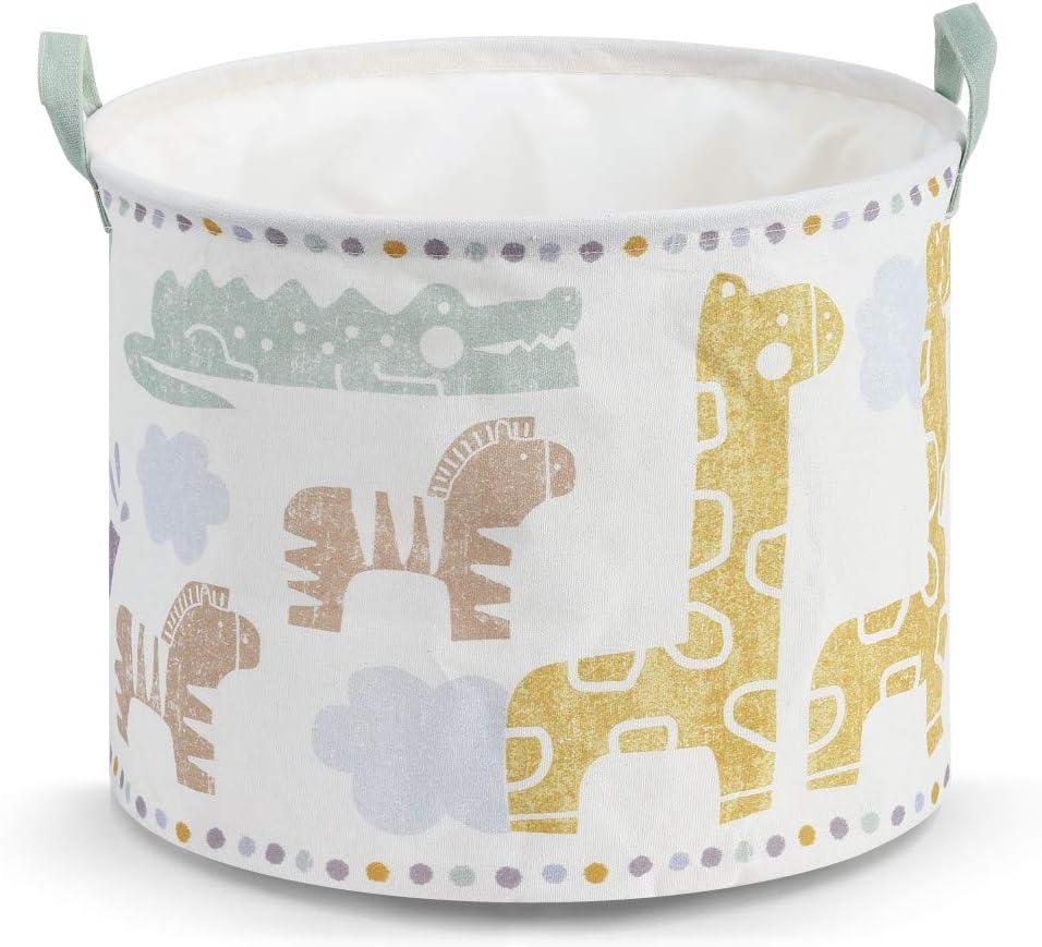 DEMDACO Noah's Ark Small Colorful 16 x 16 Canvas Fabric Nursery Laundry Hamper