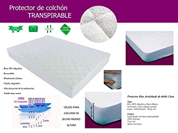 LA WEB DEL COLCHON - Protector Plus Transpirable 210 x 180: Amazon.es: Hogar