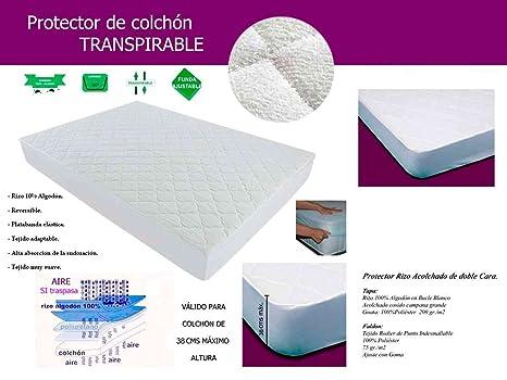 LA WEB DEL COLCHON - Protector Plus Transpirable 80 x 180