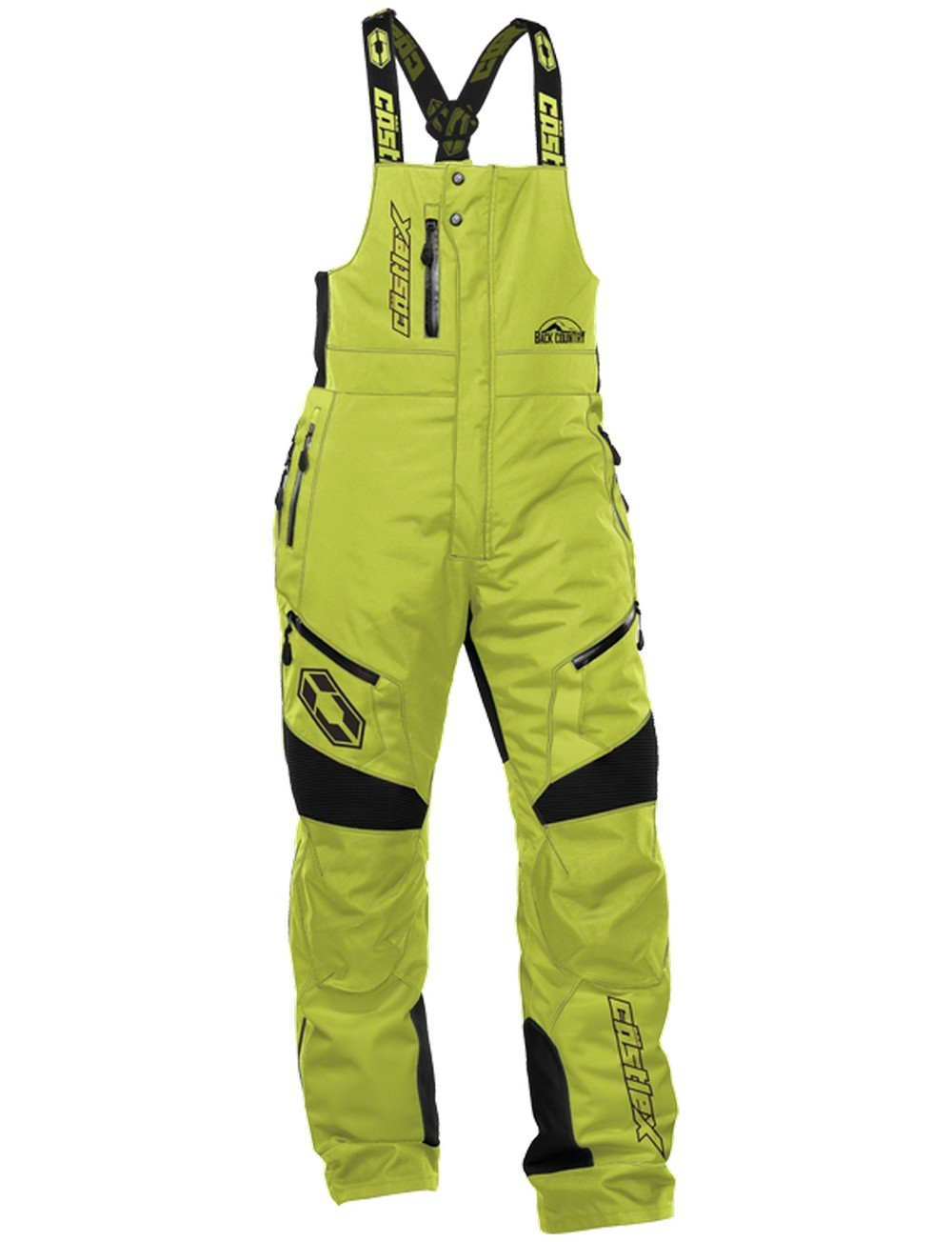 Castle X Tundra Mens Snowmobile Bibs Solid Lime XLG