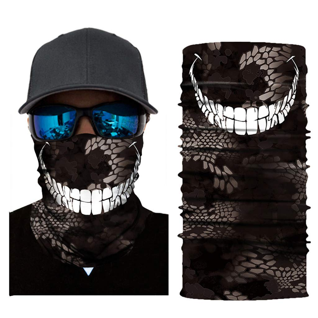 HighlifeS Cycling Motorcycle Head Scarf Full Function Ski Motorcycle Neck Tube Warmer Cycling Biker Scarf Wind Face Mask (C)