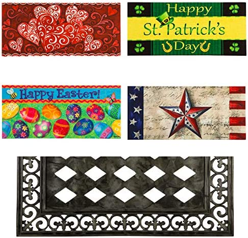 Evergreen Flag Spring and Summer Holidays Interchangeable Sassafras Mats and Tray, Set of 5
