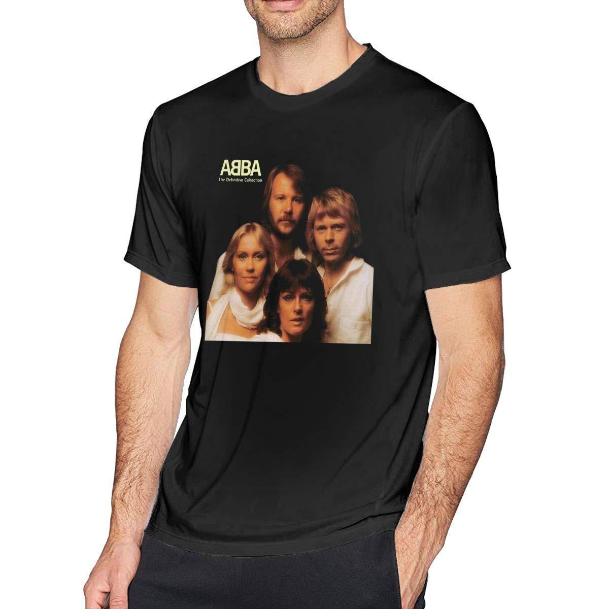 ZARA SIMS Abba - Camiseta de Manga Corta para Hombre - Negro - 5X ...