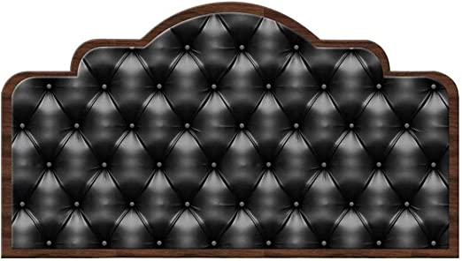 Amazon Com Calyvina Self Adhesive Modern Imitation Leather Headboard Sticker Wall Decal Mural For Bedroom Decor Peel And Stick Wallpaper Black Queen Size Home Kitchen