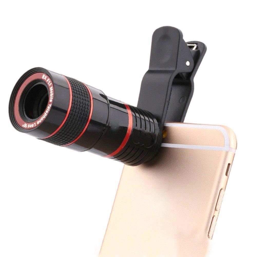 望遠鏡カメラレンズ、vanpower HD 8 x光学望遠鏡カメラレンズforモバイルPhone withユニバーサルクリップSuitable for iphone Samsung LG Sony iPad   B074TDW2XW