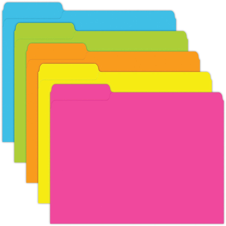 Top Notch Teacher Products TOP336 Brite Colors File Folders, 0.6 ...