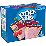 Pop-Tarts Breakfast Toaster Pastries, Frosted Cherry Flavored, 22 oz (12 Count)