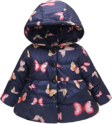 KONFA Teen Toddler Kids Baby Girls Winter Outerwear Clothes,Long Sleeve Cotton Jacket Pocket Button Coat Pullover 1-5 Years
