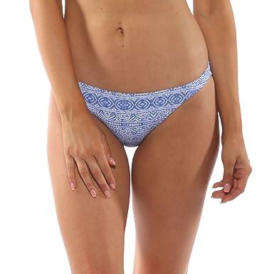 71801b1200b1e Island World Antiqua Women s Separates Solid Floral Design Cheeky Hipster Bikini  Bottom Blue Tribal L
