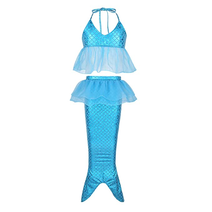 YiZYiF Traje de Baño Sirena Disfraz Sirenita Niñas Cola Sirena ...