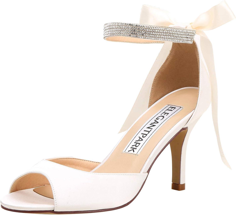 ElegantPark Women Peep Toe High Heel