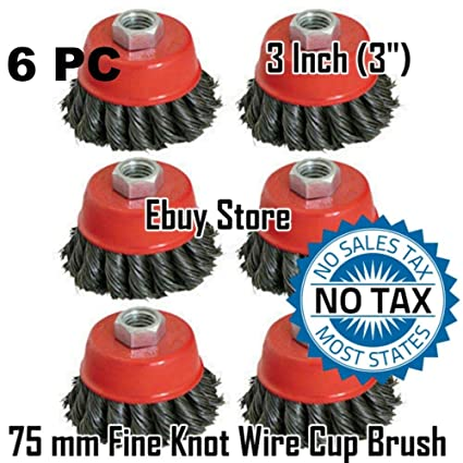 "8 Wire Cup Brush Wheel 3/"" 75mm Angle Grinder Twist Knot for 4-1//2/"" 115mm"