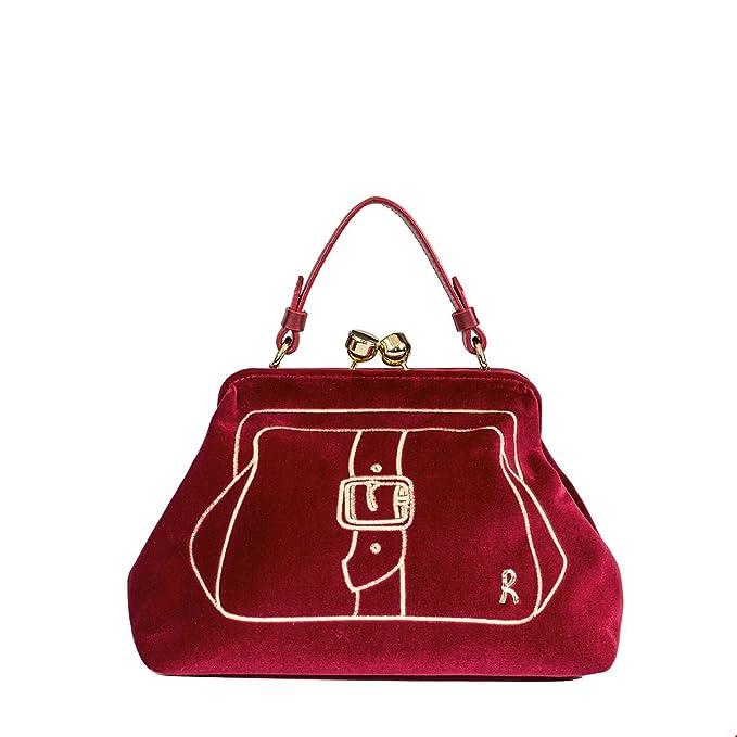 Roberta di Camerino Damen RC050608 Rot Samt Handtaschen