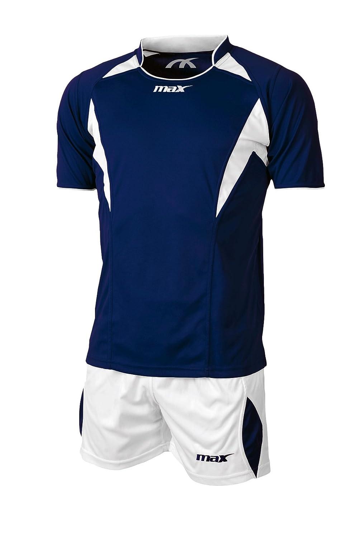 Max Sophia - Conjunto de Camiseta y Short, para Voleibol, para niño u Hombre, Color Blanco/Royal para niño u Hombre