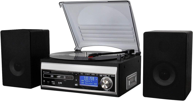 Soundmaster MCD1820SW DAB UKW Musikcenter CD Plattenspieler USB SD Encoding