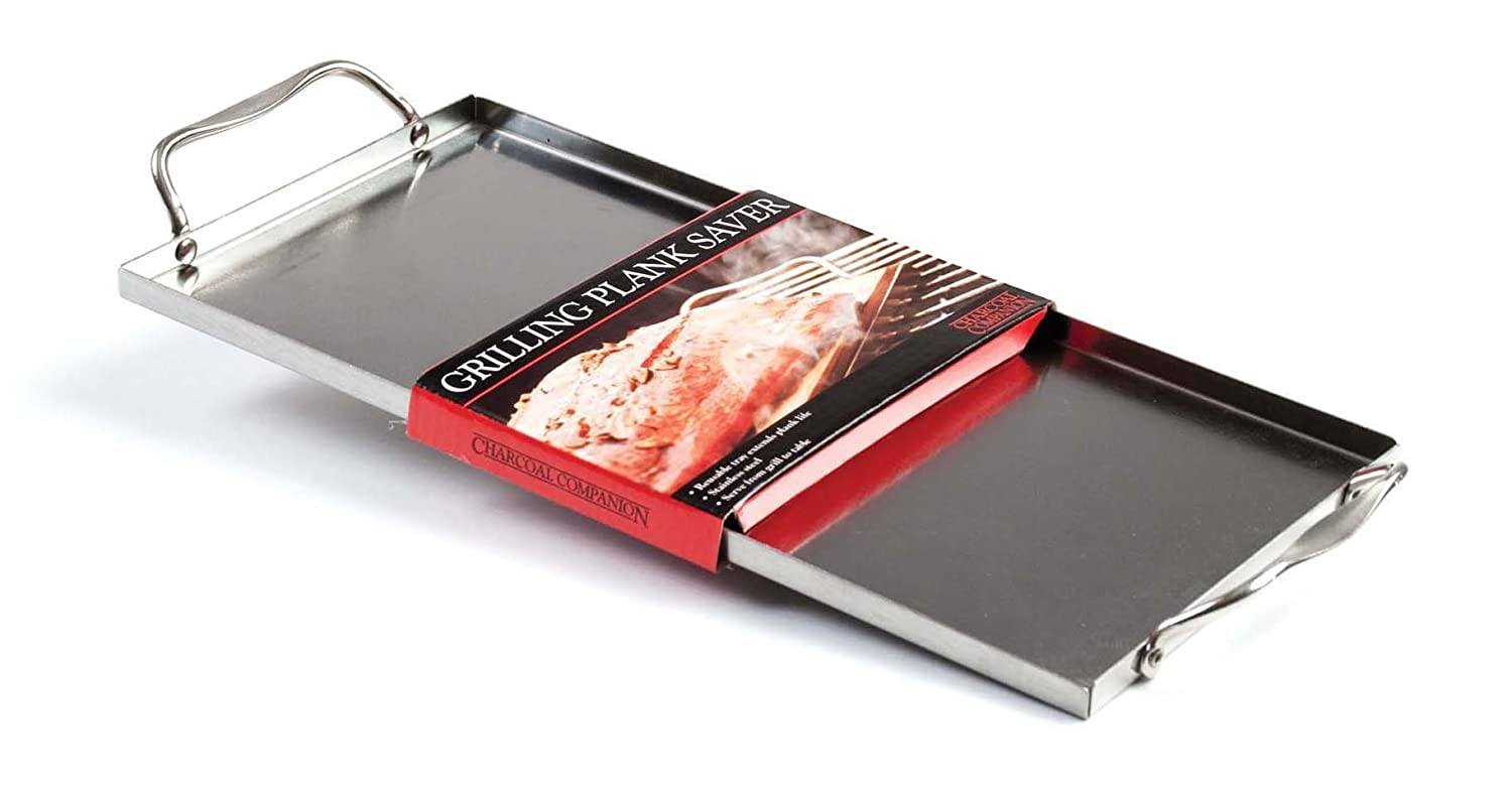 Charcoal Companion CC6037 Stainless Plank Saver with Side Handles