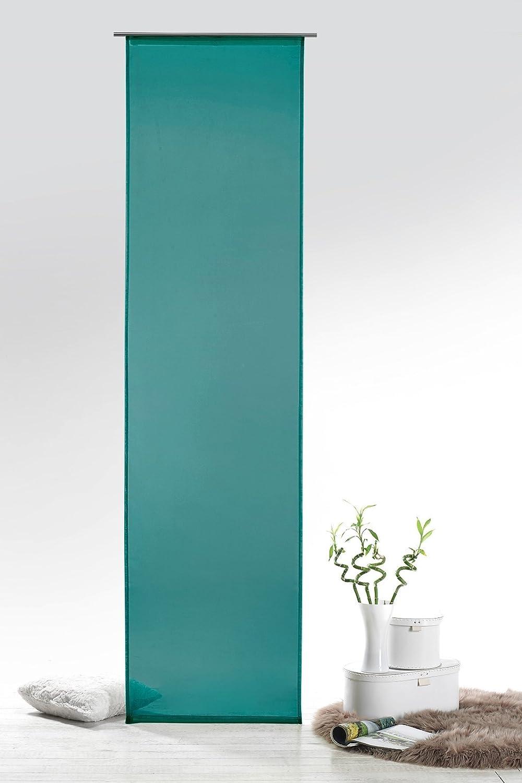 Voile Schiebevorhang Josie Transparent Farbe Petrol HxB 245x60 Cm