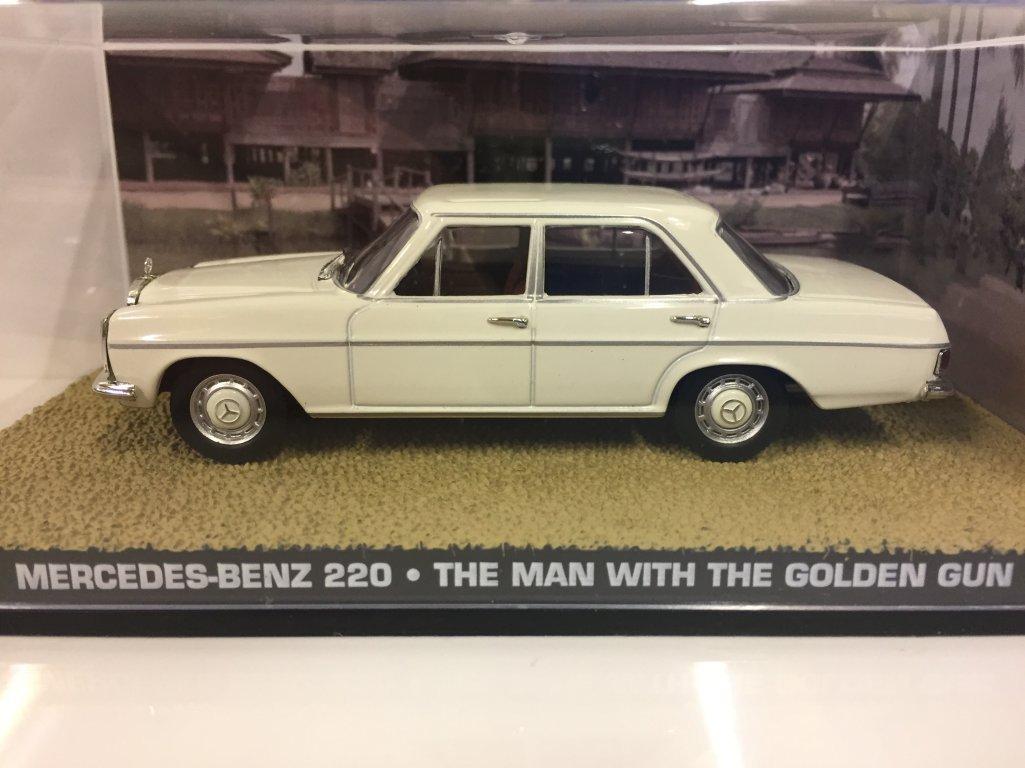 James Bond 007 Mercedes Benz 220 The Man With Golden Gun Film W108 Engine Parts Diagram Scene Car 143 Scale Diecast Model Toys Games
