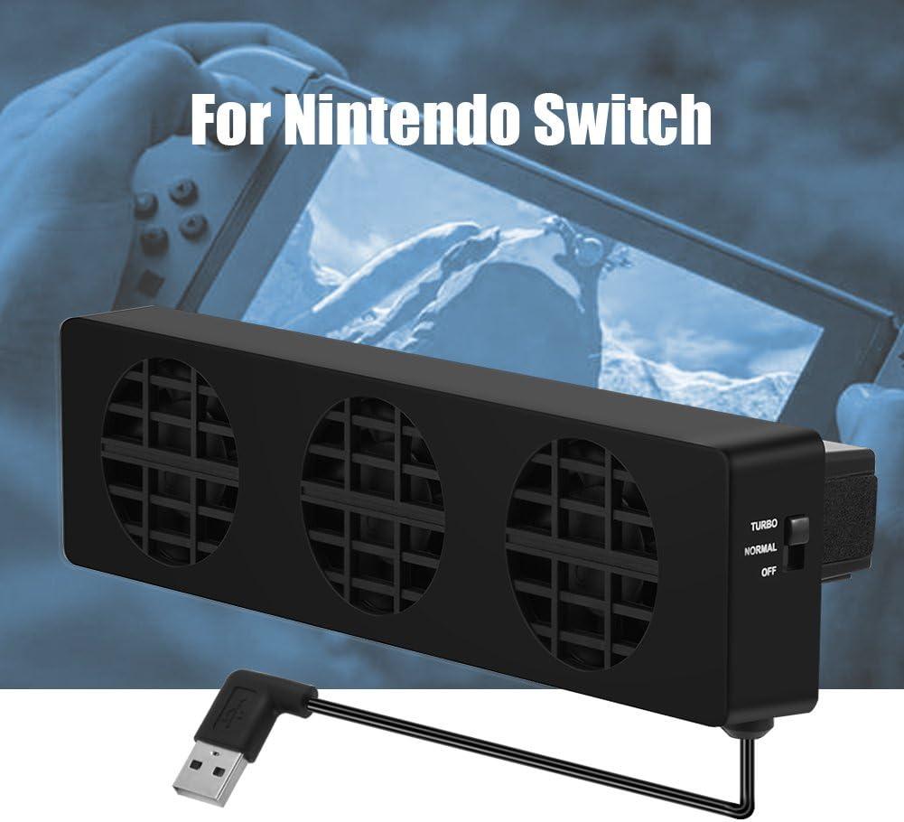 Ventilador para Nintendo Switch, Bewinner USB Fan Stand Dock con 3 ...