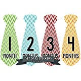 Months in Motion 722 Monthly Baby Stickers Necktie Tie...