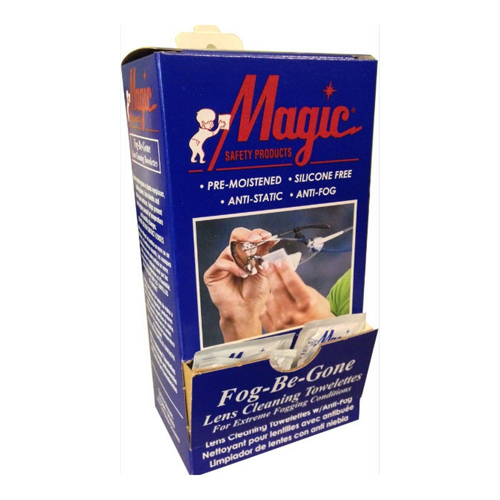 Magid Glove & Safety TW100DS Anti-Fog Anti-Static Wipes (Pack of 100) by Magid Glove & Safety