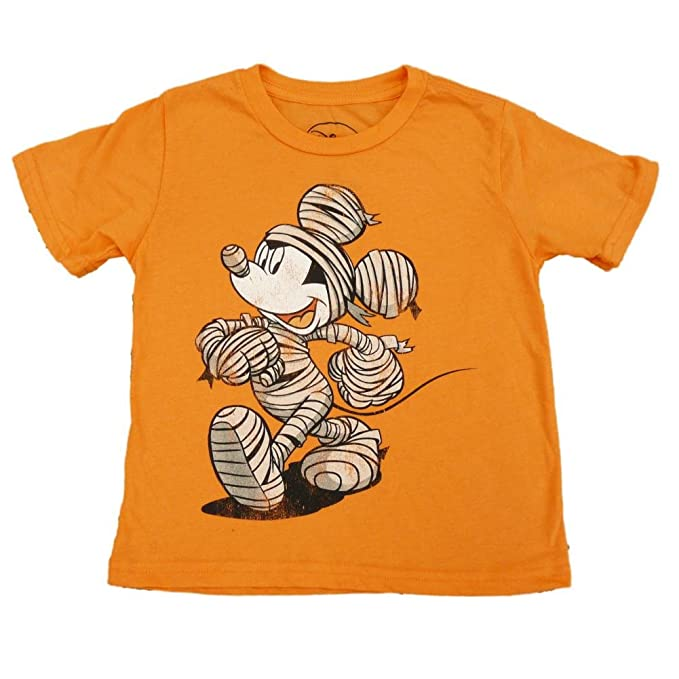 disney mickey mouse mummy boys orange halloween t shirt xl