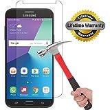Samsung Galaxy J7 V / J7V (Verizon) / J7 2017 / Galaxy J7 Perx / Galaxy J7 Sky Pro / Galaxy Halo Screen Protector, KMISS [Tempered Glass] with Lifetime Replacement Warranty (1 Pack)