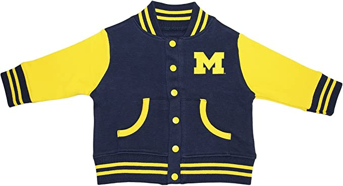 order online the sale of shoes on feet at University of Michigan Wolverines Block M Varsity Jacket
