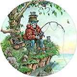 TIRE COVER CENTRAL Skeleton Fishing Patience Fish Spare Tire Cover for 175/80R13 fits Camper, Jeep, RV Scamp, Trailer(Drop Down Size menu
