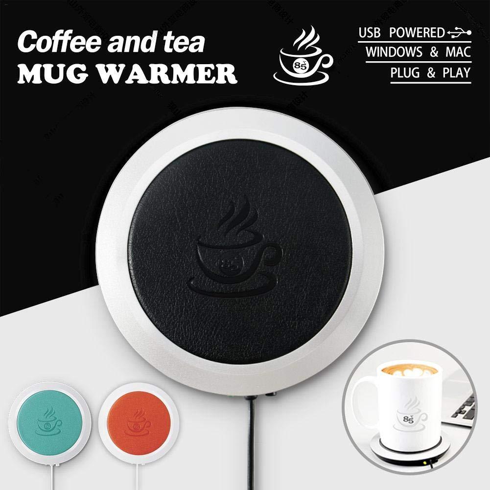 poetryer USB Tasse W/ärmer Kaffee Tee Tassenw/ärmer Elektrischer Schalen-Heizungs USB-Warmhalteplatte Platten Tee Getr/änk Becher W/ärmer f/ür B/üro Zuhause