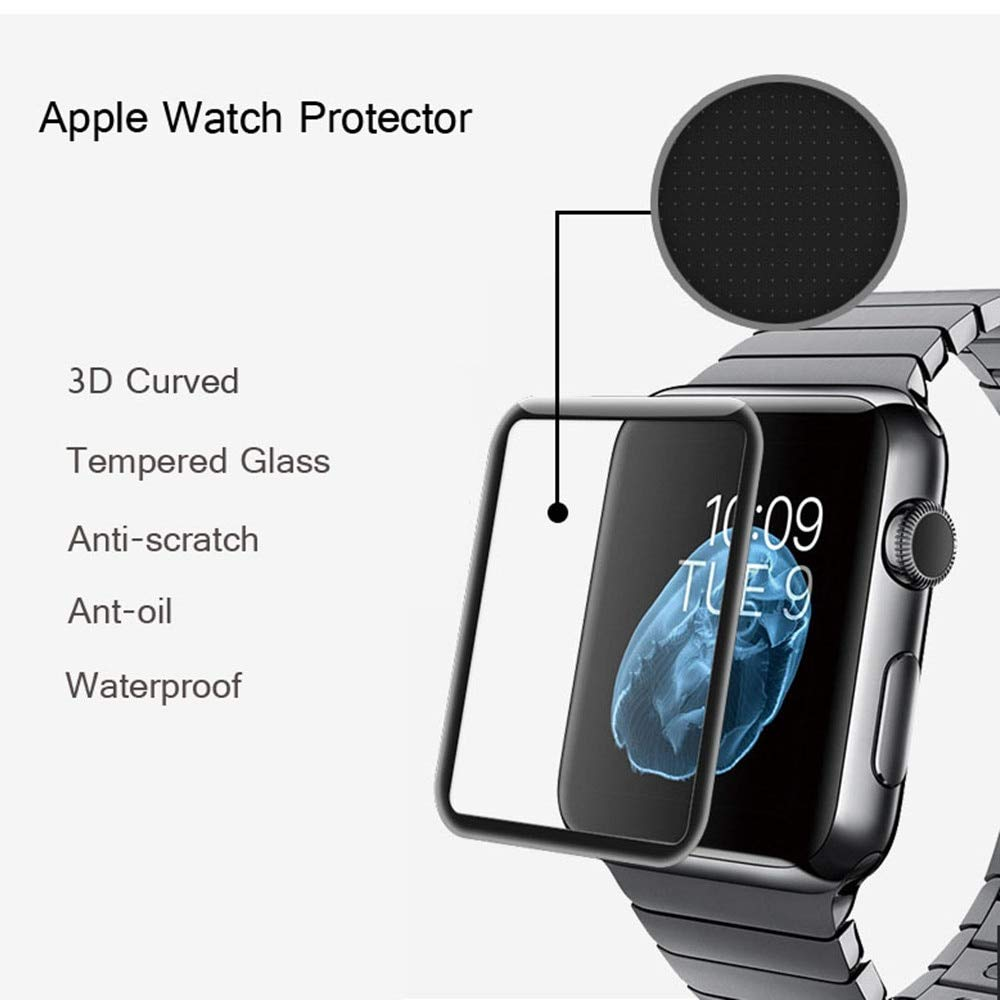 Amazon.com: BATOP Apple Watch Screen Protector || 4d Full Cover Soft Edge Full Gel Glass Film for i Watch 42mm Screen Protector Film for Apple Watch 38 mm ...