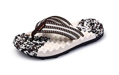 RoseFinch Fang Womens Massage Flip Flops Men Pool Beach Slipper & Summer Sandals Water Shoes For (40.5/41 EU, Blau)
