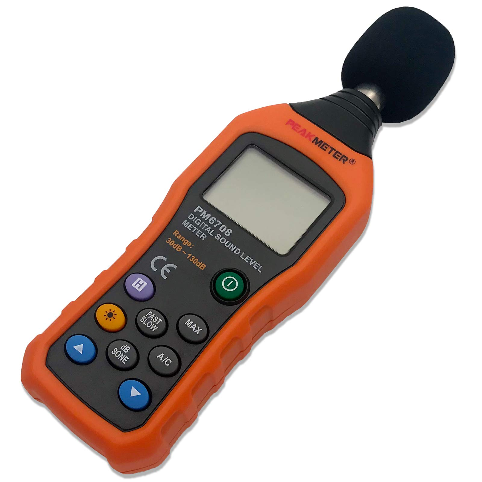 CBK LCD Digital Audio Decibel Meter Sound Level Meter Noise Level Meter Measurement 30 dB to 130 dB Date Hold Function A/C Mode for Sound Level Testing