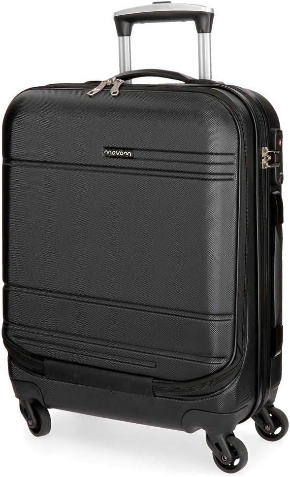 Maleta de cabina Movom Galaxy con bolsillo frontal 55cm Negra
