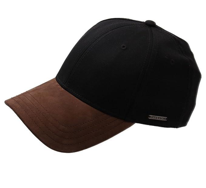 Stetson - Gorras de béisbol hombre Plano Canvas Nubuck - talla M - 1-noir: Amazon.es: Ropa y accesorios