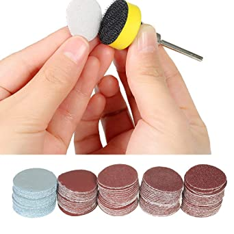 Backing Pad for Drill Grinter Dapter Rotary Tools ☍ 100Pcs 25mm Sanding Discs
