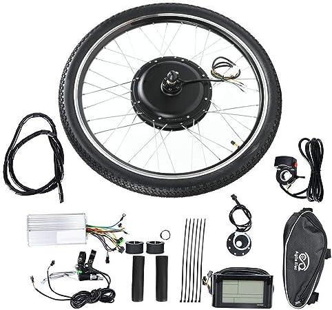 BTIHCEUOT Kit de Rueda de Bicicleta eléctrica, Kit de conversión de Motor de Cubo de Bicicleta eléctrica 36V 500W Rueda de 26 Pulgadas con medidor(accionamiento Trasero): Amazon.es: Hogar