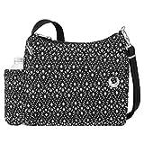 Travelon 33220 51A Anti-Theft Boho Square Crossbody Bag, Geo Shells, One Size