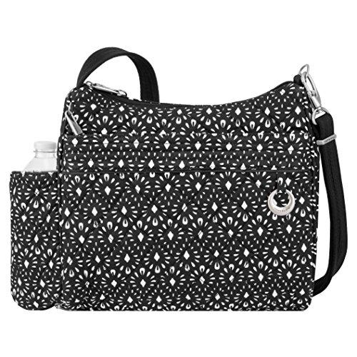 Travelon Women's Anti-Theft Boho Square Crossbody Cross Body Bag, Geo Shells, One (Drop Handbag)
