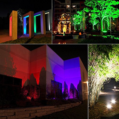 MELPO 15W LED Flood Light Outdoor, Color Changing RGB ...