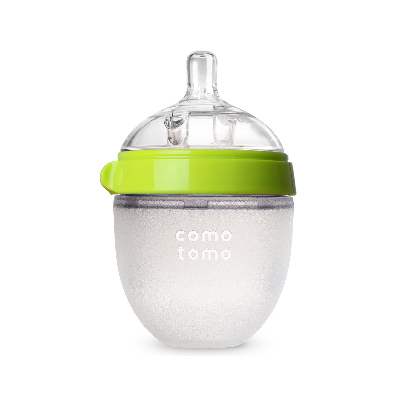Comotomo Natural Feel Baby Bottle, Green, 8 Ounces 250G