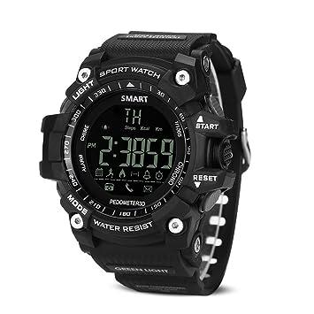 Deportes al aire libre resistente al agua IP67 Bluetooth reloj inteligente Fitness Tracker podómetro reloj contador