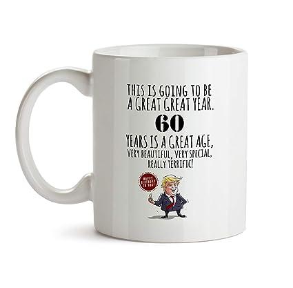 60th Happy Birthday Gift Mug