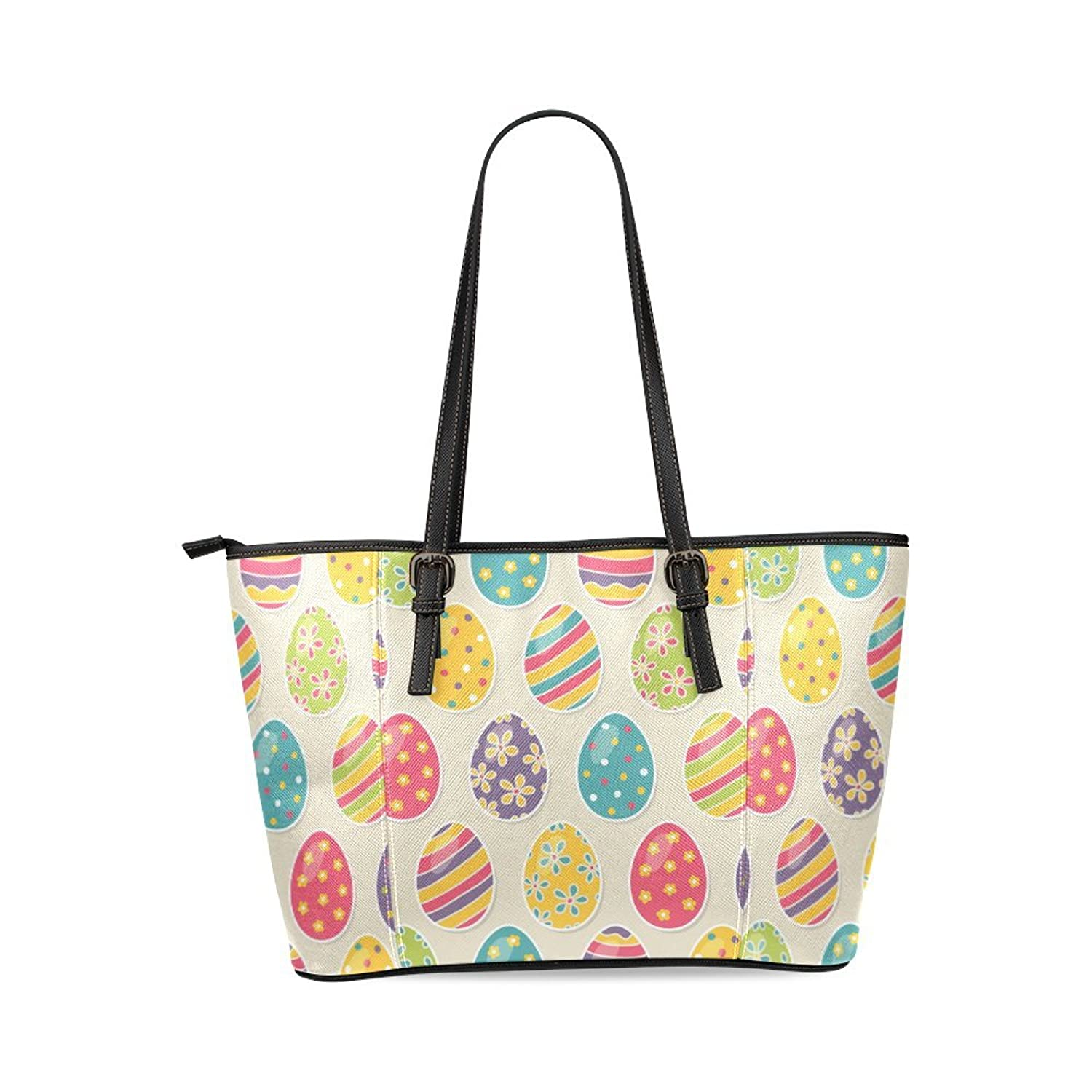 Easter Egg Custom PU Leather Large Tote Bag/Handbag/Shoulder Bag for Fashion Women /Girls
