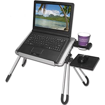 Laptop Buddy  Portable Laptop Table   Silver/Gray