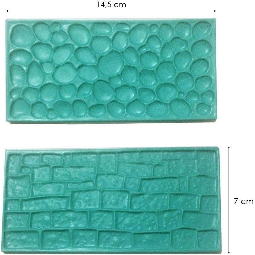 cake design Moule silicone 3D pierre brique pour pâte à sucre décoration