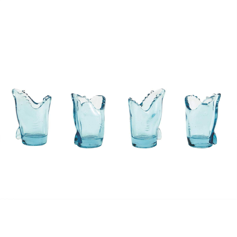 Two's Company Set Of 4 Glass Shot Glasses (Shark)