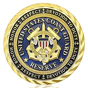U.S. Coast Guard Challenge Coin Commemorative Military Veterans Collectibles Gift from Amazinga